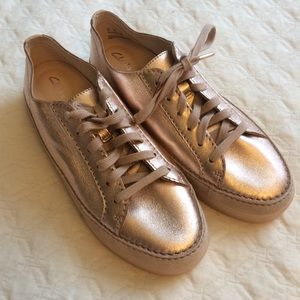 68c0d47f9b8f Clarks Shoes - New Clarks Artisan Metallic Rose Gold Sneakers